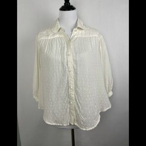 Free People Button Up Blouse sz Sm